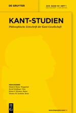 Kant-Studien Cover